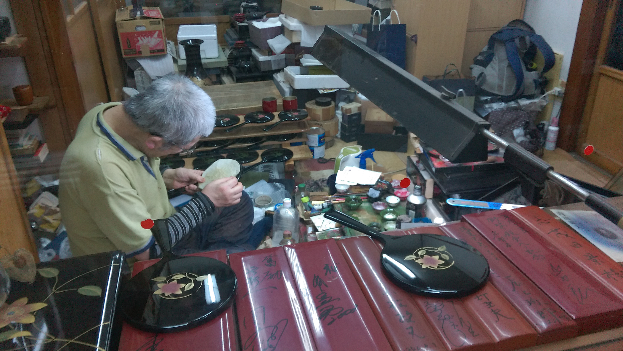 20160619【Workshop reports】漆器工房鈴武さんにて会津蒔絵の体験と工房の見学をして参りました!